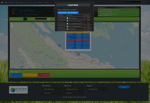 View sensors and statuses on a map