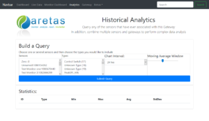 Aretas Sensor Edge Complex Query Builder